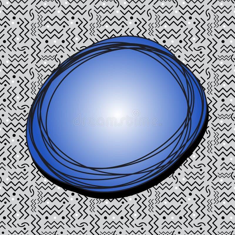 Burbuja enrrollada del discurso en Gray Memphis Pattern stock de ilustración