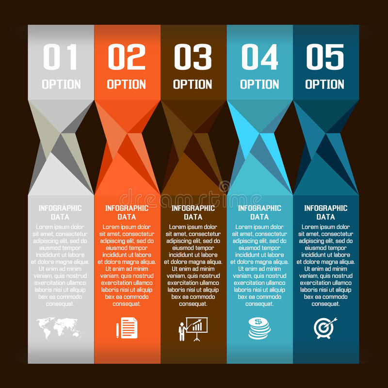Burbuja moderna del discurso del extracto del vector infographic libre illustration