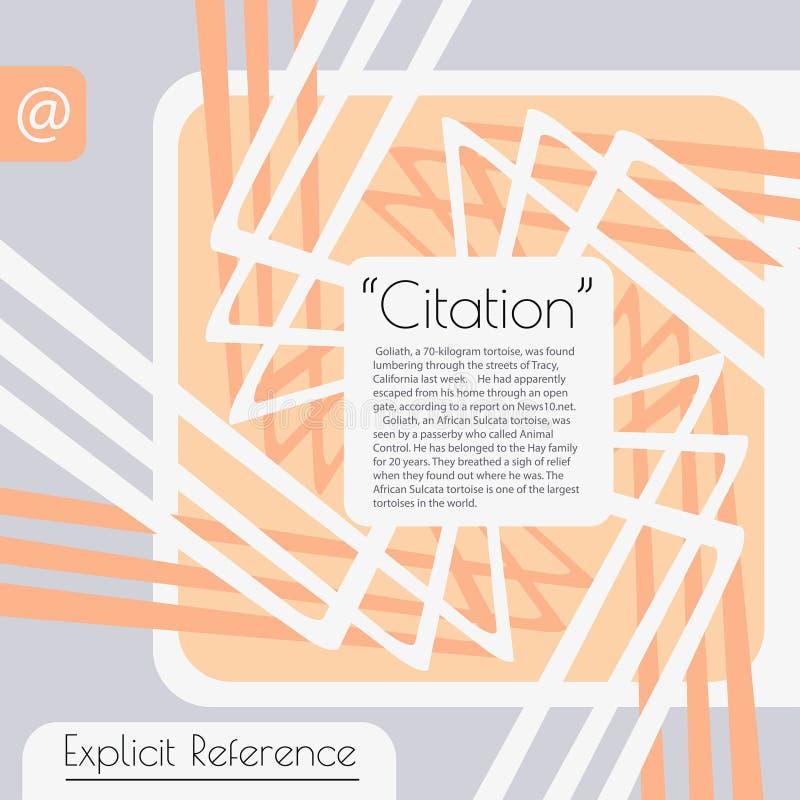 Burbuja moderna del texto Texto, vínculo, comentario Elemento del diseño con una burbuja del texto ilustración del vector
