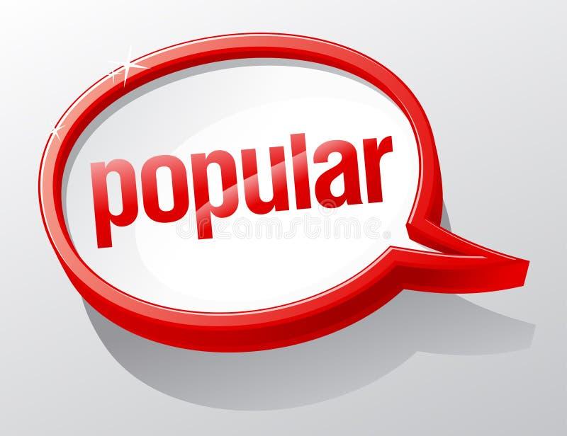 Burbuja popular del discurso. ilustración del vector
