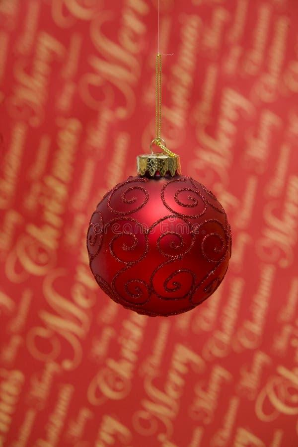 Burbuja roja de la Navidad foto de archivo