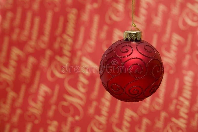Burbuja roja de la Navidad foto de archivo libre de regalías