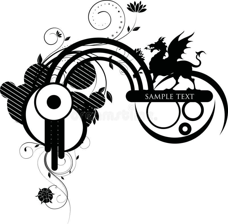 Burbuja y mito florales stock de ilustración