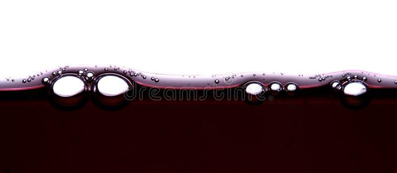 Burbujas 3 del vino foto de archivo libre de regalías