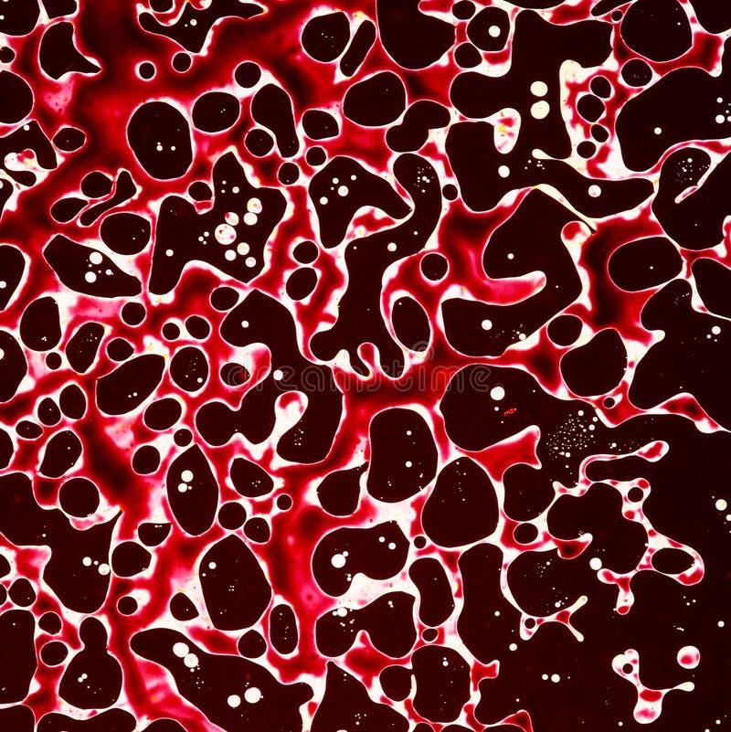 Burbujas abstractas - rojo y negro fotografía de archivo libre de regalías