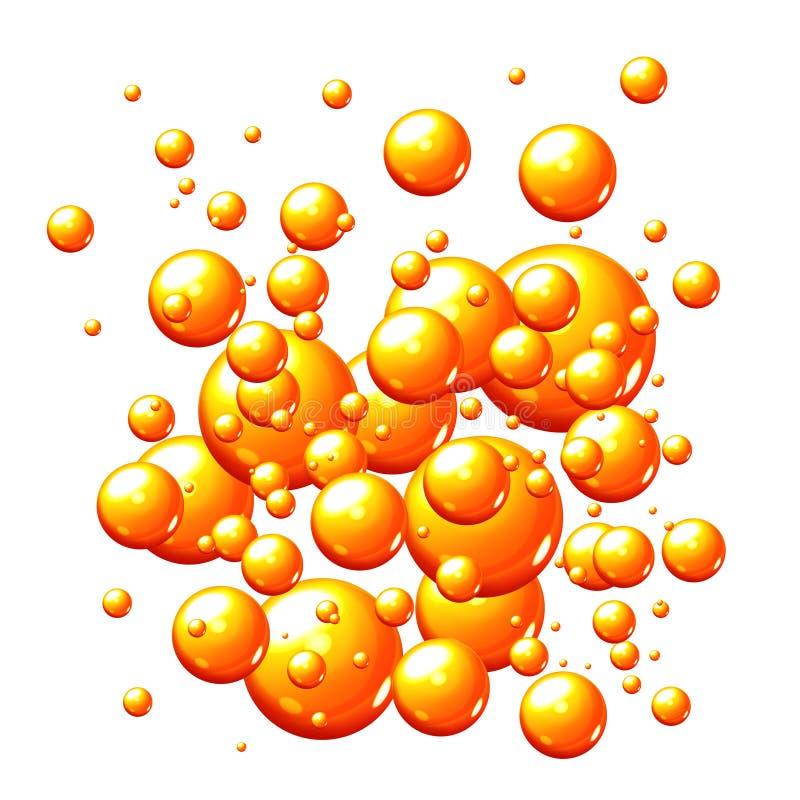 Burbujas anaranjadas ilustración del vector