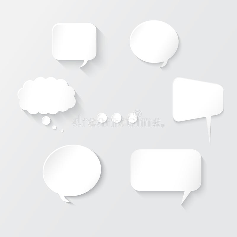 Burbujas blancas del discurso fijadas libre illustration
