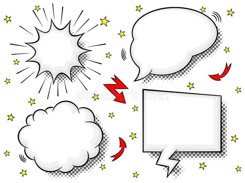 Burbujas cómicas del discurso del estilo libre illustration