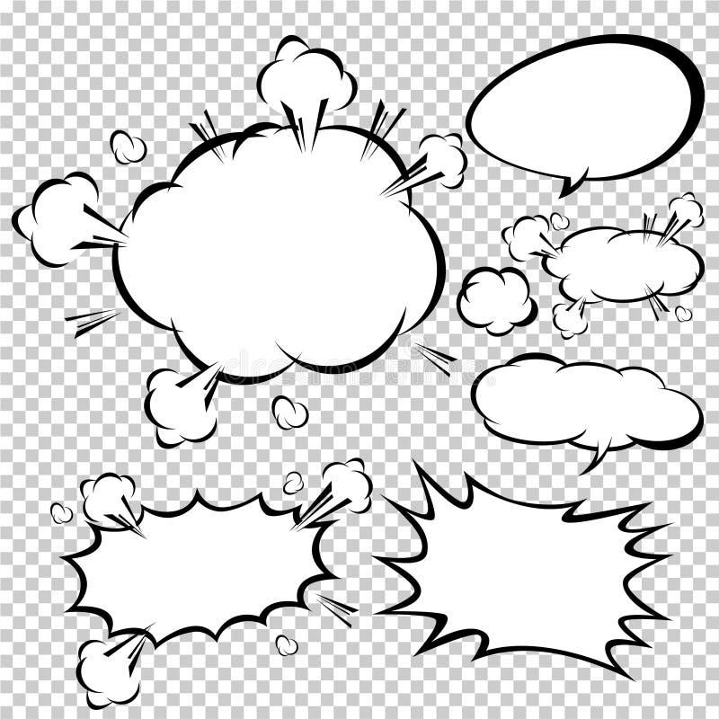 Burbujas cómicas del discurso, ejemplo del vector libre illustration