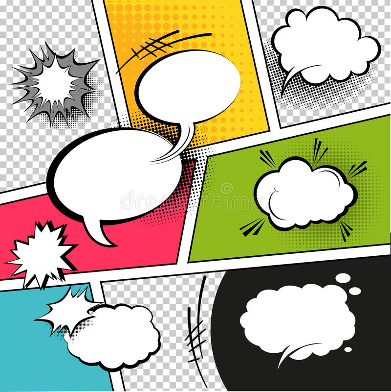Burbujas del discurso de la historieta libre illustration