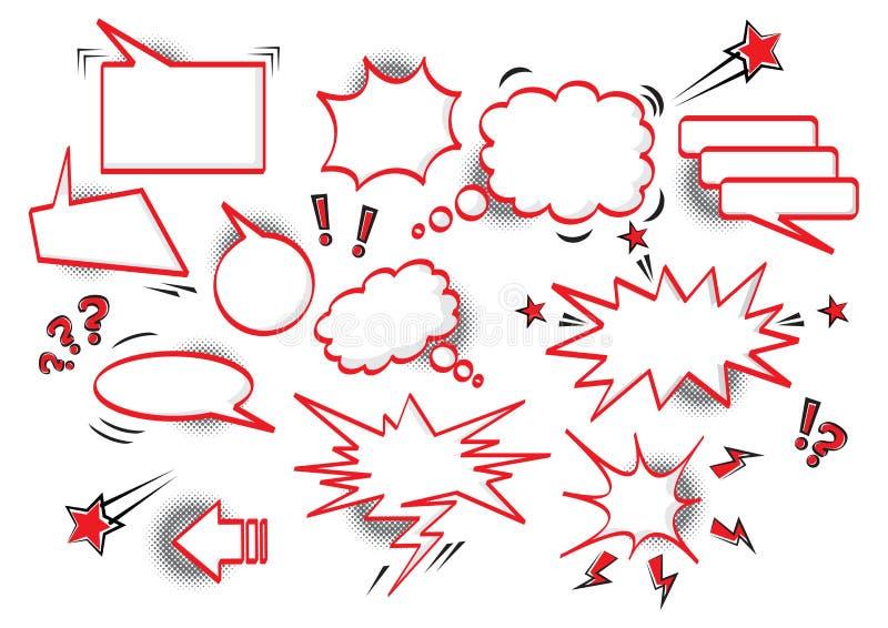 Burbujas c?micas del discurso stock de ilustración