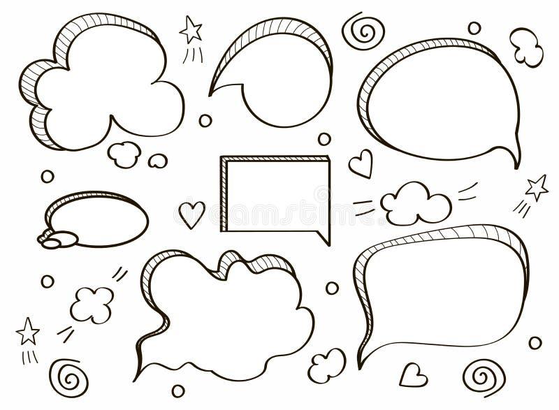 Burbujas c?micas del discurso libre illustration