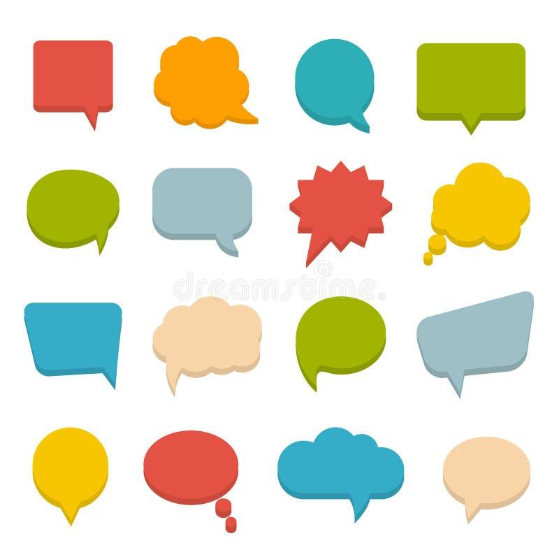 Burbujas coloreadas de la comunicación libre illustration