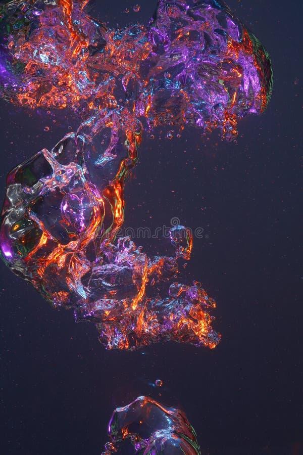 Burbujas coloreadas que remolinan foto de archivo