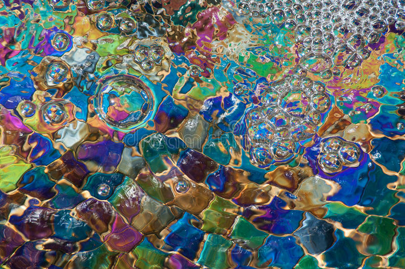 Burbujas coloridas imagen de archivo