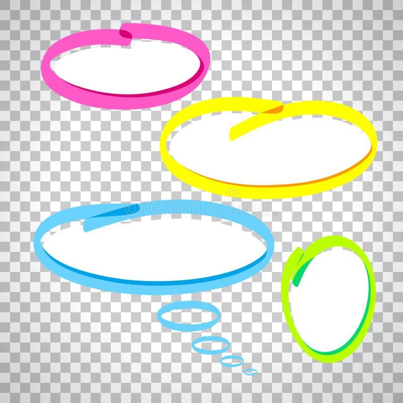 Burbujas coloridas del discurso stock de ilustración