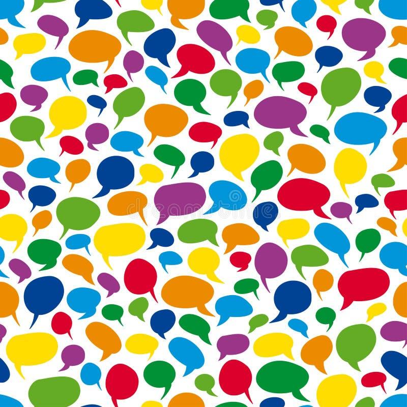 Burbujas coloridas del discurso - sin fin ilustración del vector