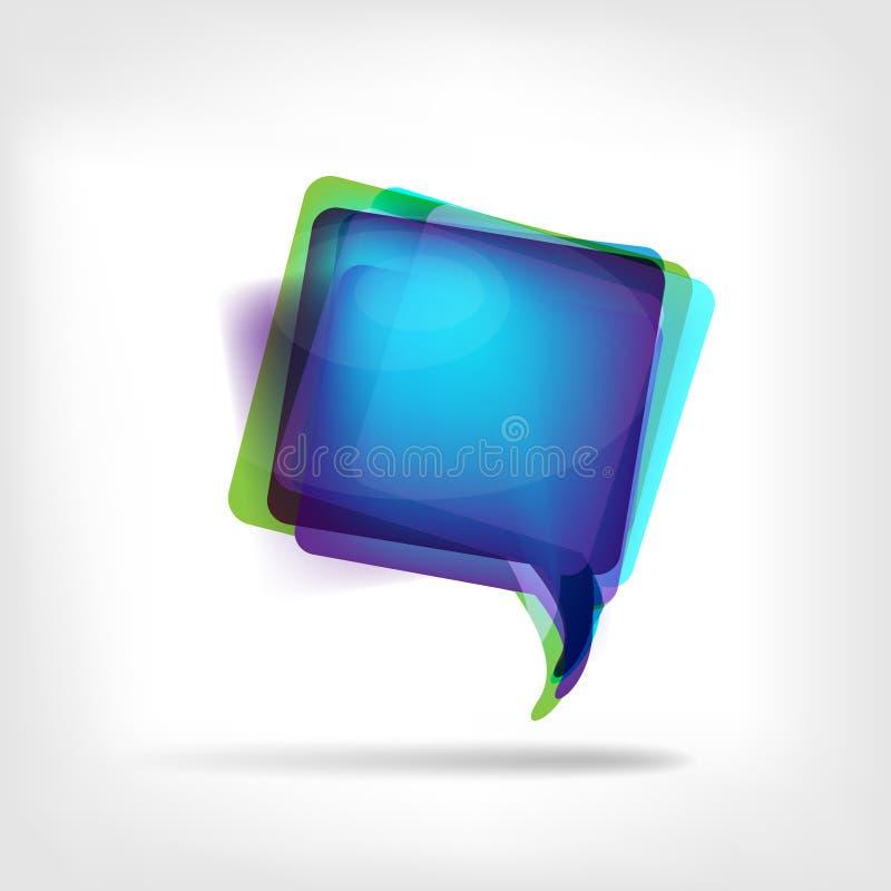 Burbujas coloridas para el discurso ilustración del vector