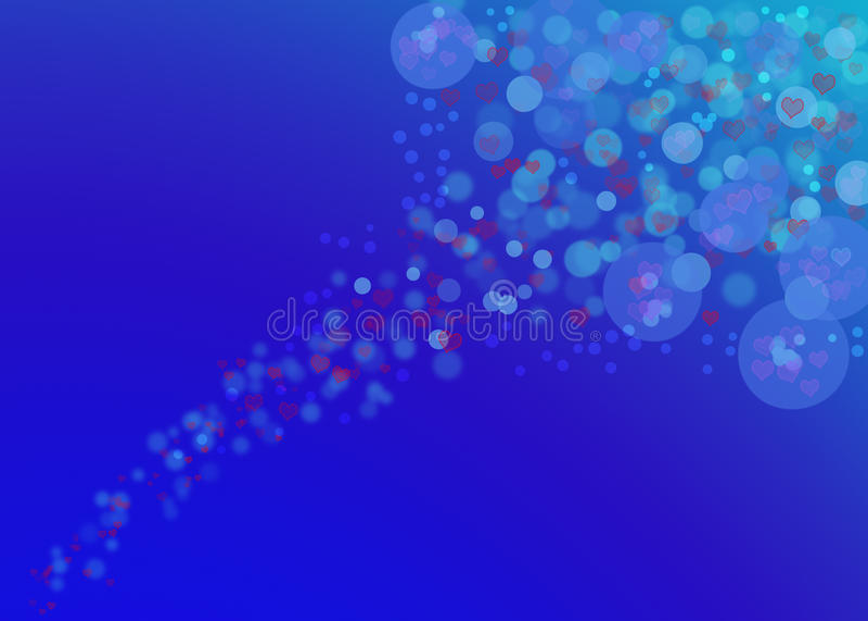 Burbujas con los corazones libre illustration
