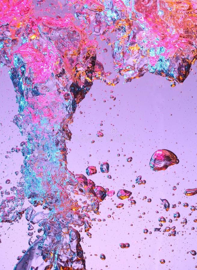 Burbujas de aire en agua imagen de archivo libre de regalías