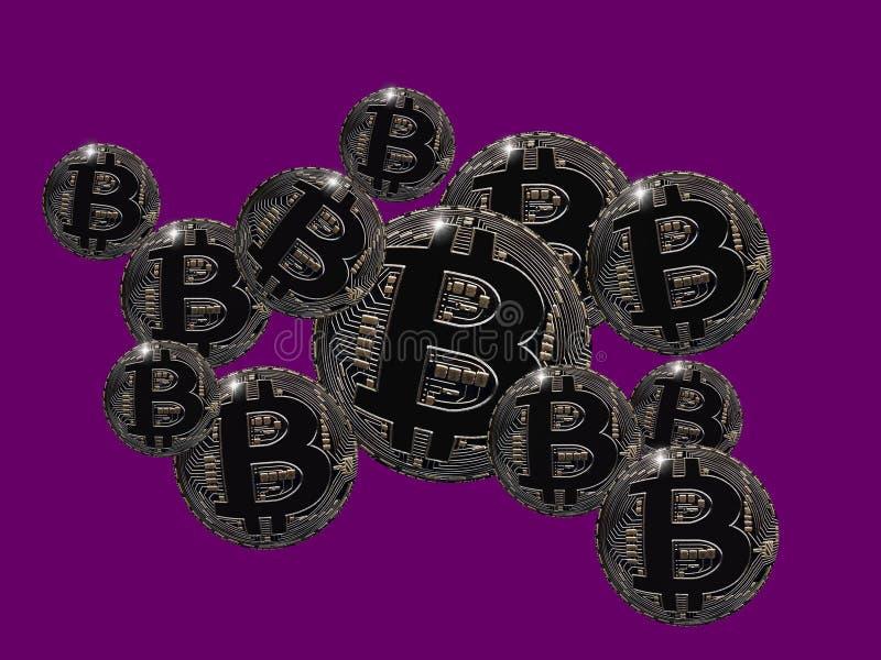 Burbujas de Bitcoin stock de ilustración