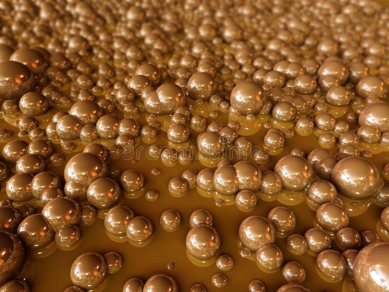 Burbujas de Brown ilustración del vector