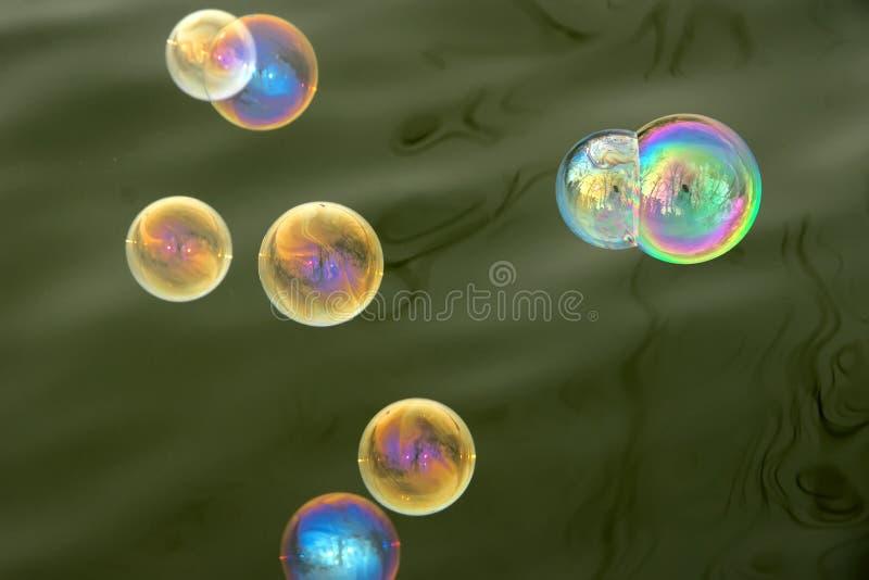 Burbujas de jabón fotografía de archivo