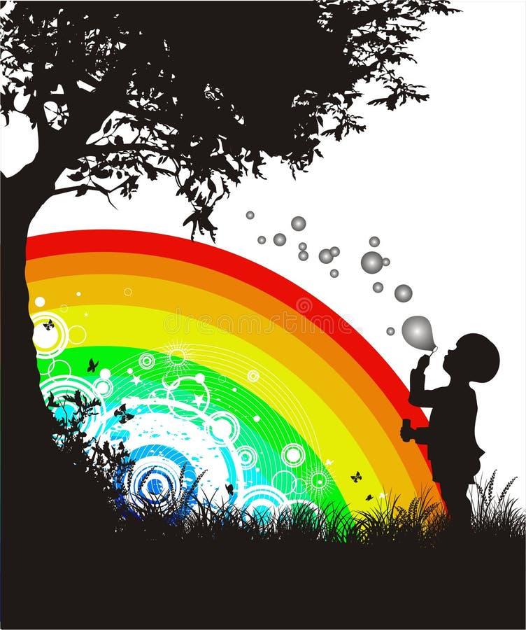 Burbujas de jabón stock de ilustración