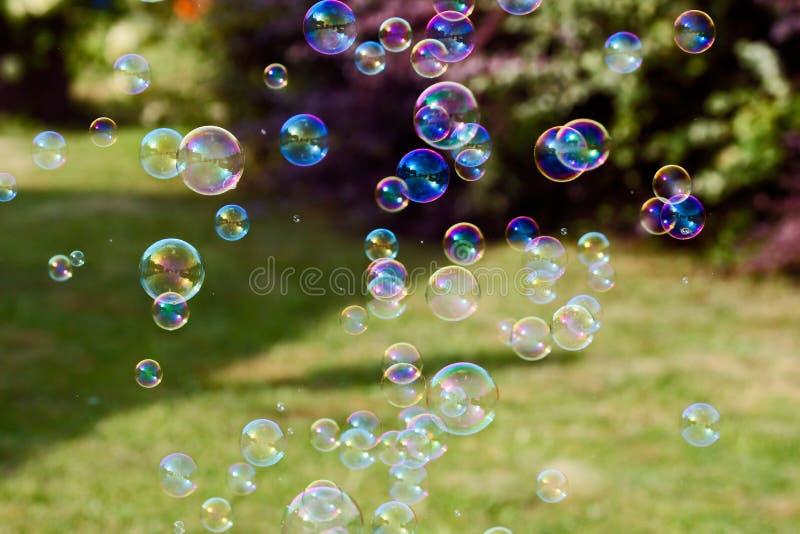 Burbujas de jabón fotos de archivo