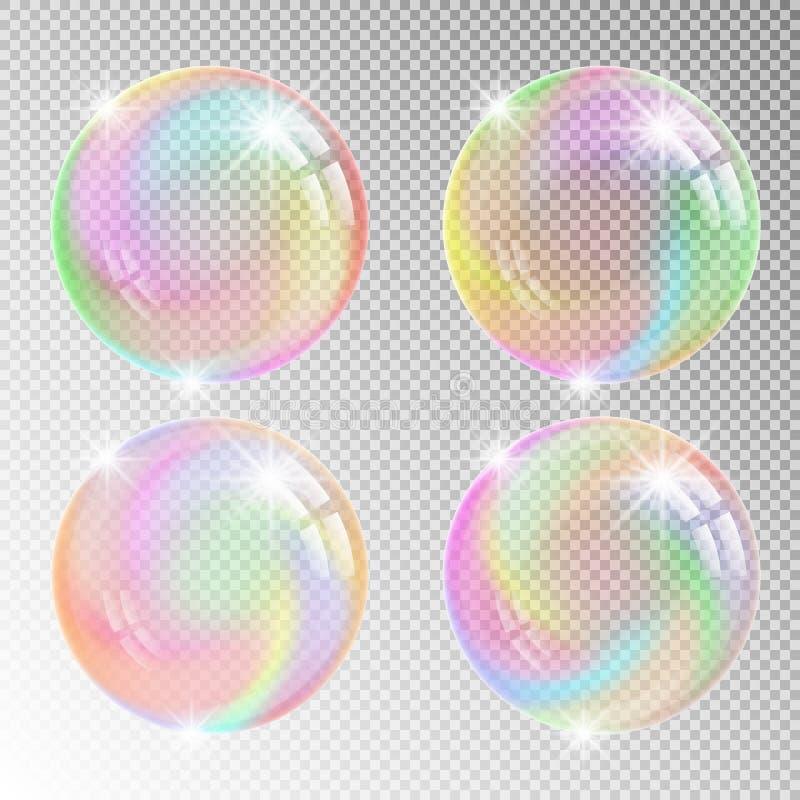 Burbujas de jab?n coloridas stock de ilustración
