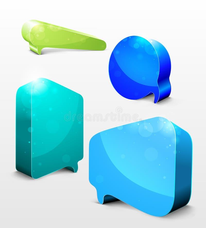 Burbujas de la charla ilustración del vector
