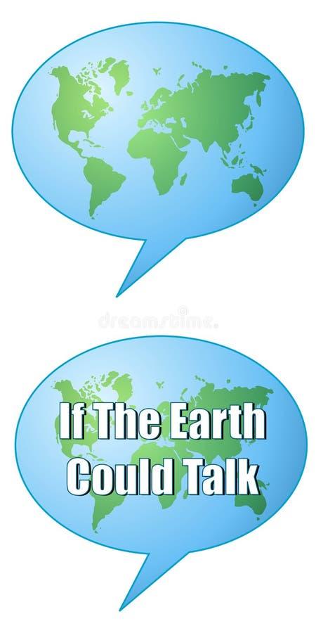Burbujas de la charla de la correspondencia de la tierra stock de ilustración
