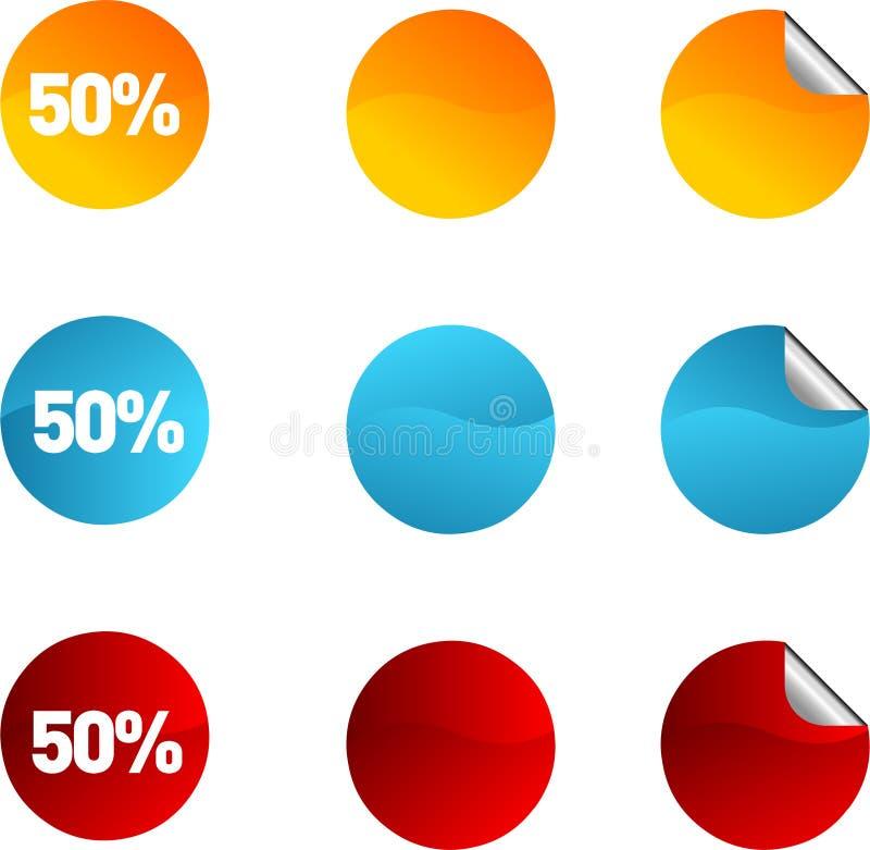 Burbujas de la charla o del blog. ilustración del vector