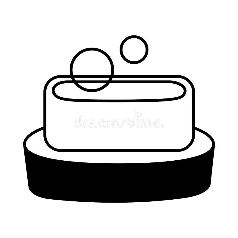 Burbujas de la higiene del jab?n ilustración del vector