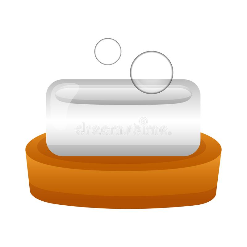 Burbujas de la higiene del jab?n stock de ilustración