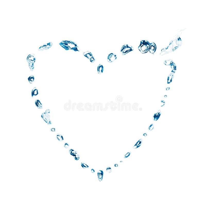 Burbujas del agua - corazón fotos de archivo libres de regalías