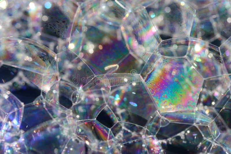 Burbujas del arco iris. foto de archivo