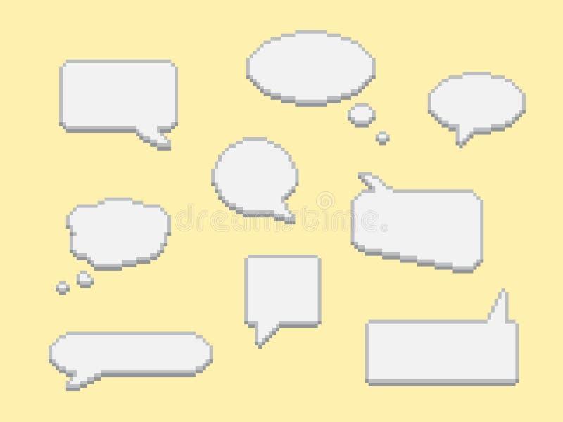 Burbujas del diálogo fijadas stock de ilustración