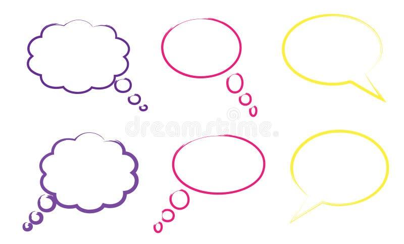 Burbujas del discurso libre illustration