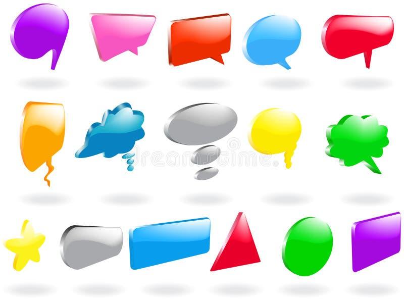 Download Burbujas del discurso ilustración del vector. Imagen de azul - 8653334