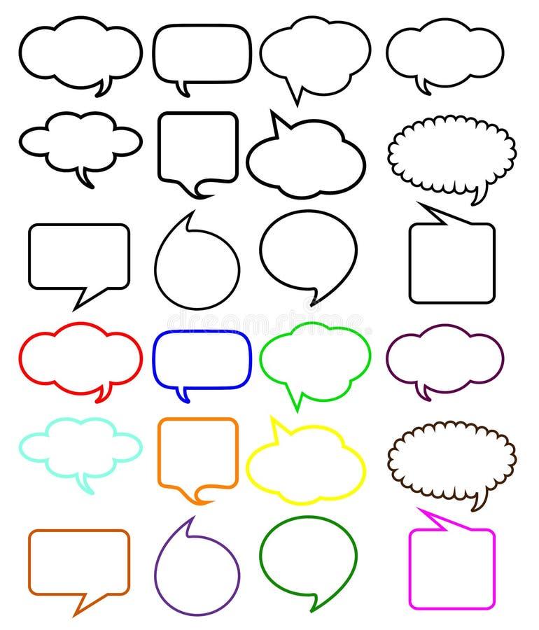 Burbujas del discurso del pensamiento libre illustration