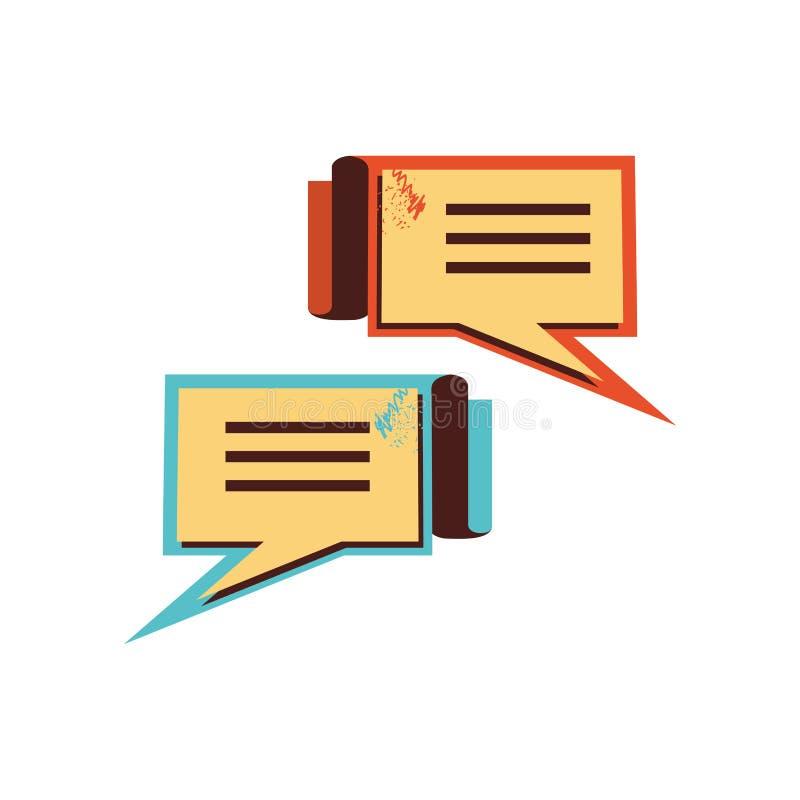 Burbujas del discurso en rectángulos de la forma libre illustration