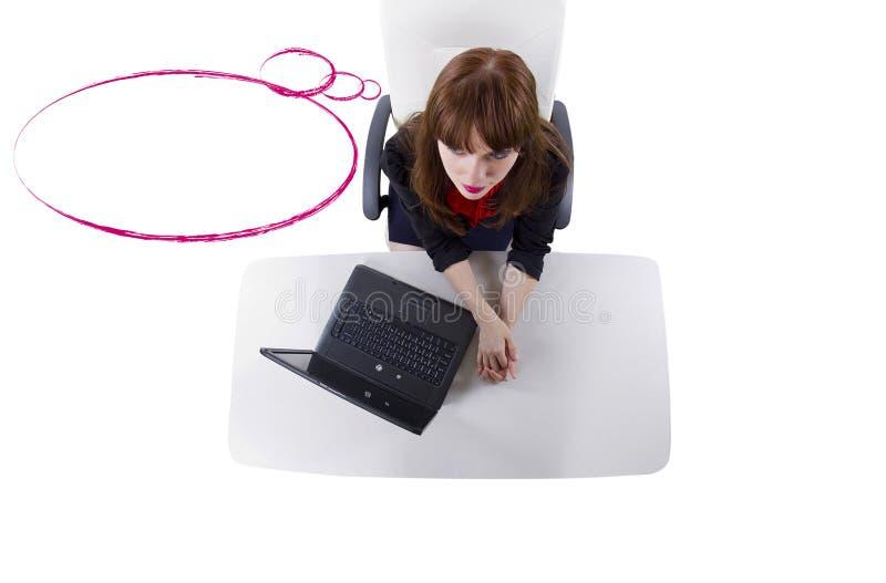Download Burbujas del pensamiento foto de archivo. Imagen de businesswoman - 44852358