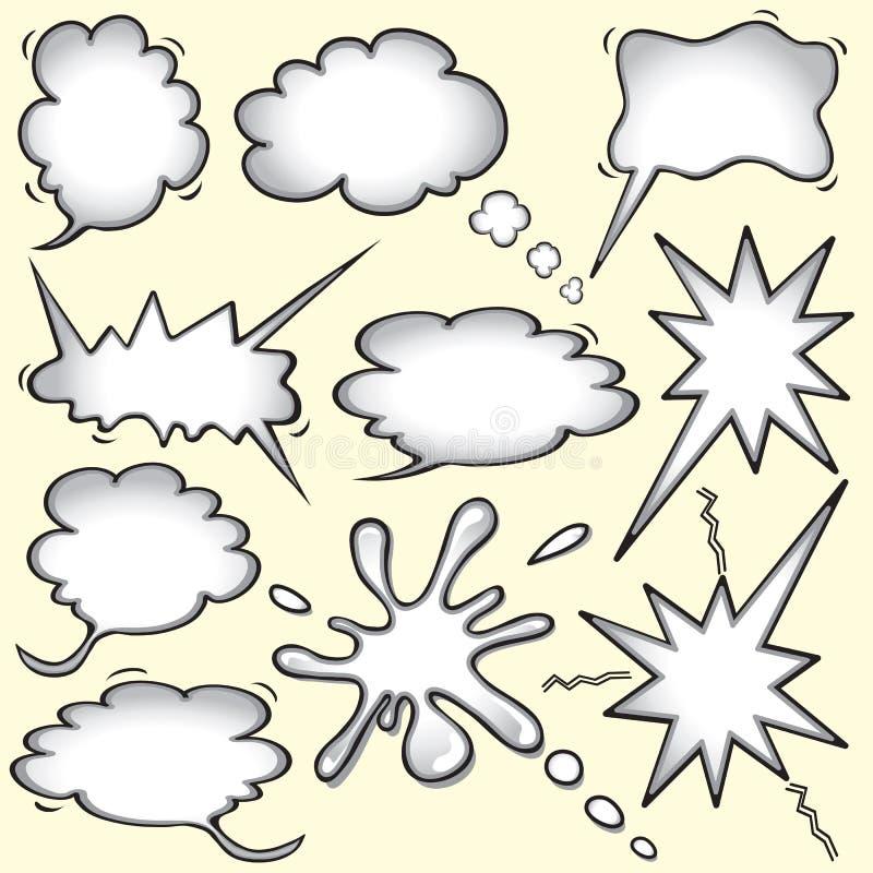 Burbujas del pensamiento del cómic stock de ilustración