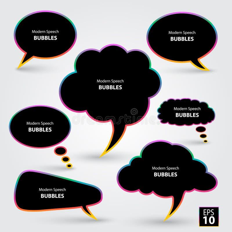 Burbujas modernas del discurso libre illustration