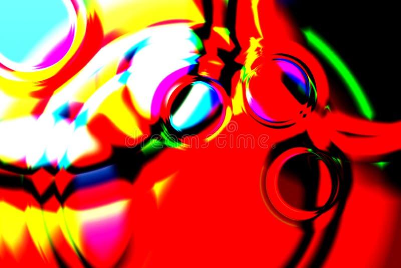 Burbujas rojas imagen de archivo