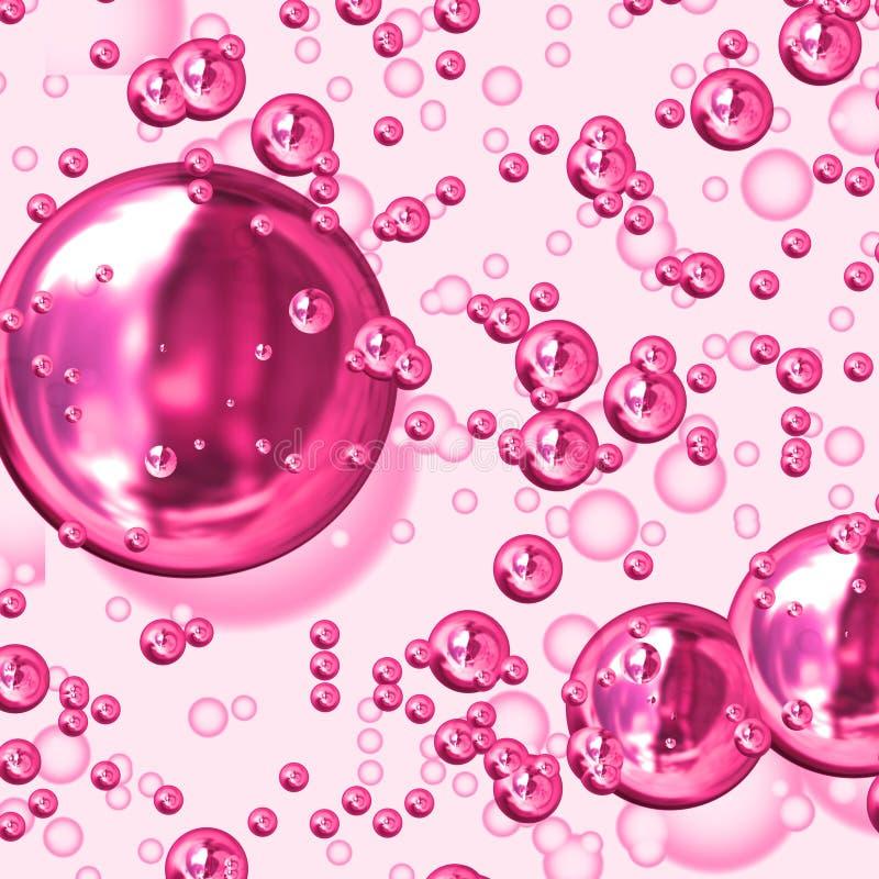 Burbujas rosadas stock de ilustración