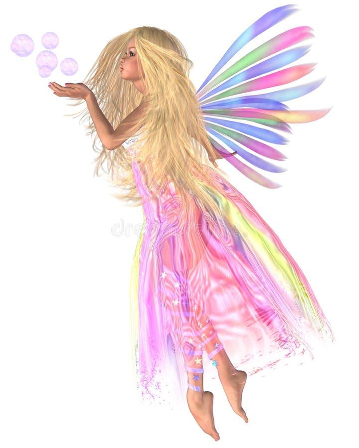 Burbujas rosadas de hadas stock de ilustración