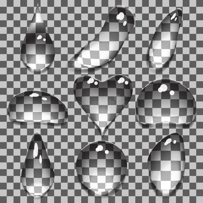 Burbujas transparentes stock de ilustración
