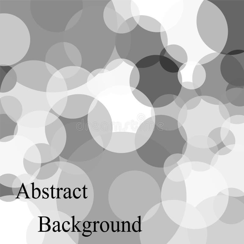 Burbujas traslapadas transparentes monocromáticas de diverso tamaño abstraiga el fondo libre illustration